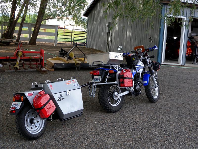 Прицепы для мотоциклов своими руками